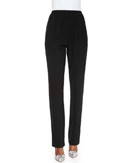 Mid-Rise Narrow-Leg Trousers
