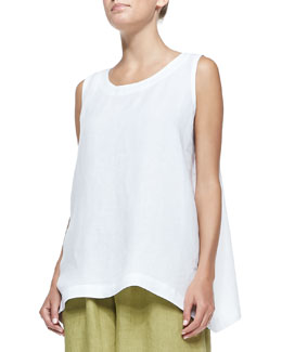 Sleeveless A-Line Shell