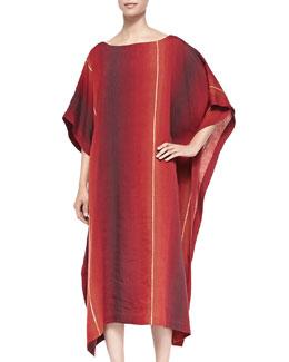 Bateau-Neck Caftan Dress