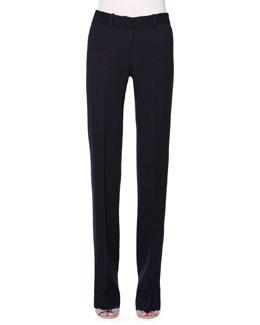 Wool/Silk Chevron Textured Pants