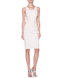 Giorgio Armani Seamed Knit Round-Neck Dress