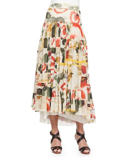 Printed Garden Tiered Skirt