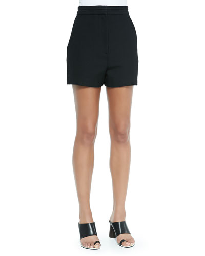 High-Waisted Shorts, Black