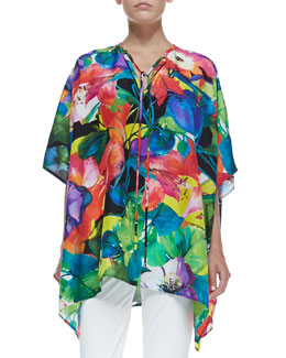 Adriana Printed Tunic, Bright Multicolor