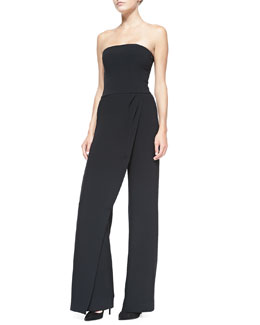 Caralyn Strapless Draped-Leg Jumpsuit