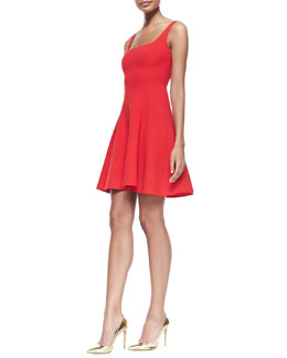 Ralph Lauren Black Label Halee Sleeveless Fit-and-Flare Dress