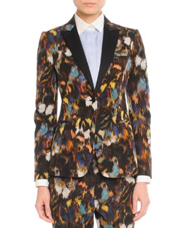 Abstract Painted Feather Jacket