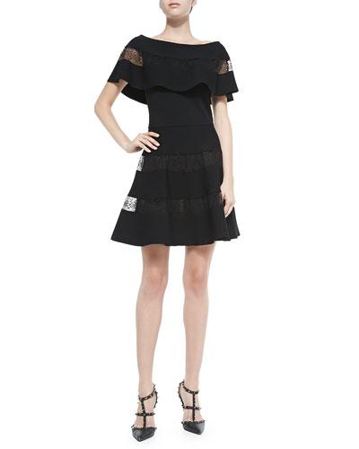 Off-the-Shoulder Lace-Tier Dress