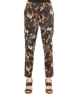 Abstract Painted Feather Pants