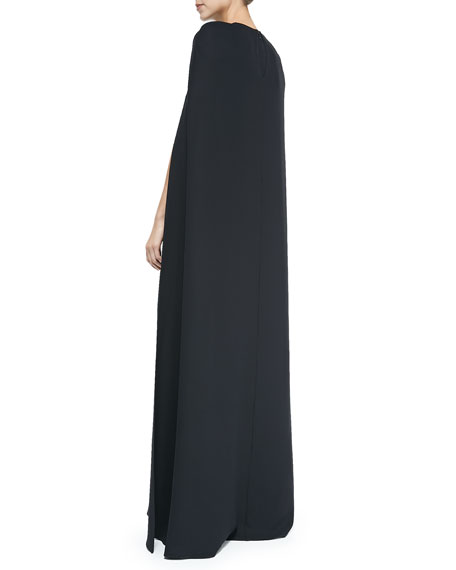 Silk Cape Gown