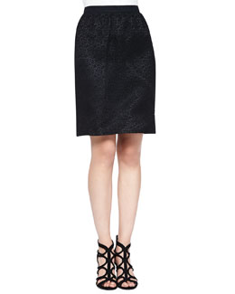 Corded Lace Skirt, Black