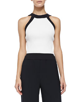 Sleeveless Tank with Trim Detail