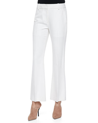 Cropped Flared Pants, Ivory