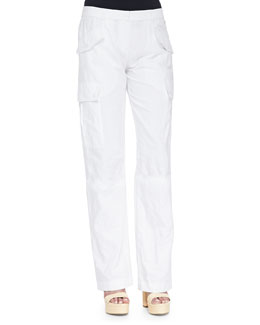 Straight-Leg Cargo Pants, Optic White