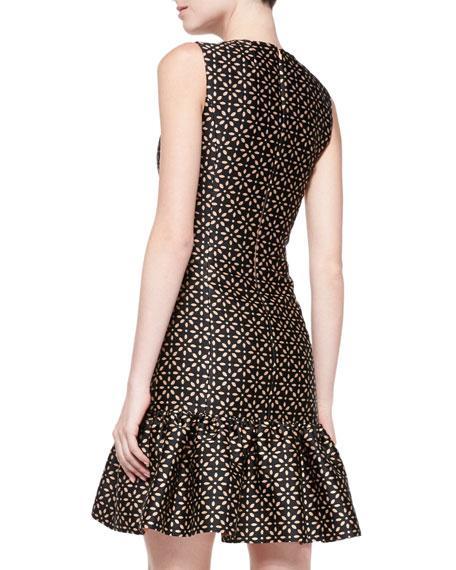 Drop-Waist Sheath Dress with Ruffle Skirt