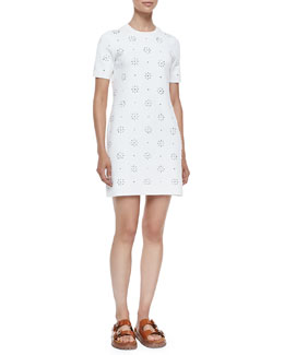 Cotton Eyelet T-Shirt Dress