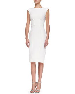 Princess Seamed Fitted Dress, Magnolia