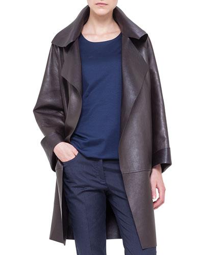 Reversible Napa Leather Jacket, Brown
