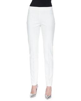 Melissa Slim-Fit Techno Pants, Off White