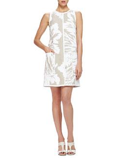 Floral-Print Linen Shift Dress