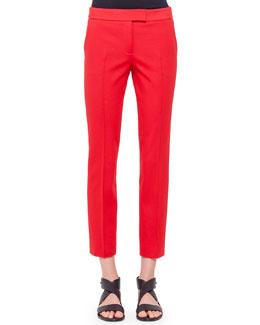 Frankie Slim-Fit Ankle Pants, Rouge