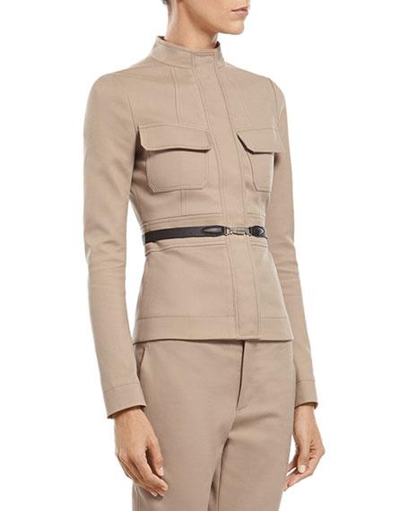bacbc0761eb Gucci Stone Cotton Stretch Scuba Jacket