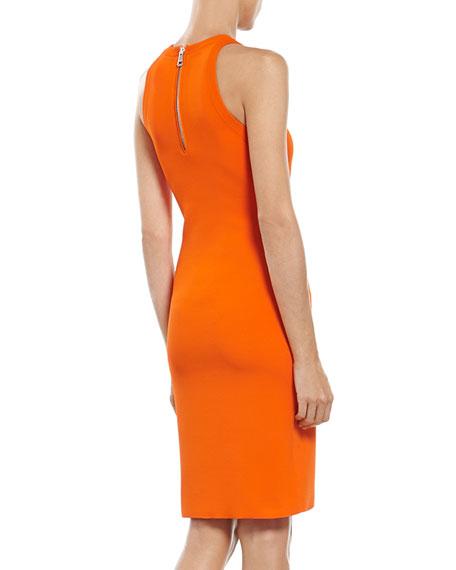 Orange Stretch Viscose Knit Dress
