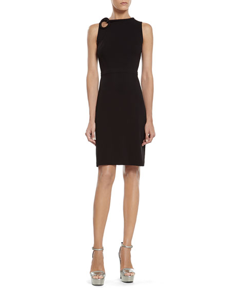 2a69403b7dfef0 Gucci Black Stretch Viscose Dress with Knot Detail