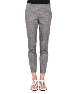 New Audrey Micro-Circle Jacquard Pants, Dark Navy