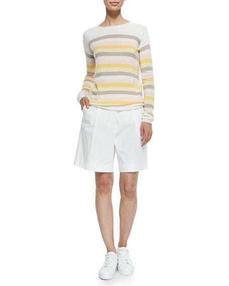 Stretch Cotton Twill Golf Shorts