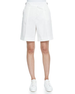 Stretch Cotton Twill Golf Shorts