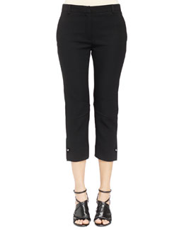 Ankle Pants with Stud Cuff Detail