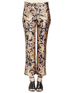 Golden Monkey Brocade Pants