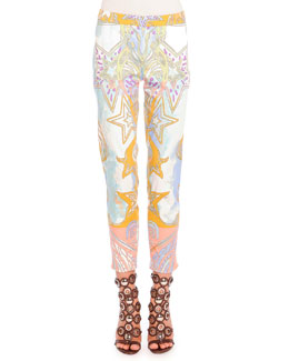 Sateen Wings & Stars Printed Pants