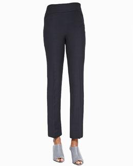 Flat-Front Slim Pants, Lava