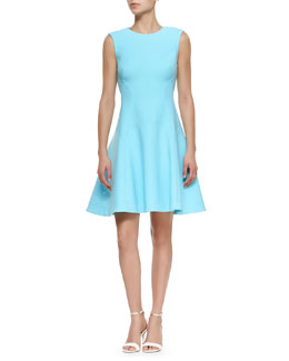 Raised Seam Scuba Dress, Sky