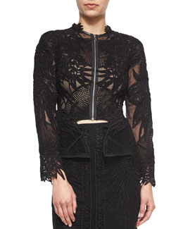 Guipure Patch-Lace Jacket