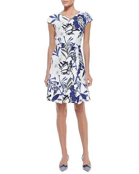 Ceramic Floral Grasscloth Dress