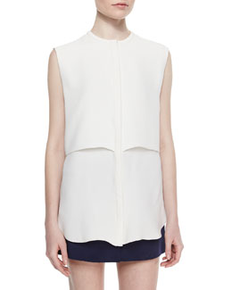 Sleeveless Double-Layer Shell