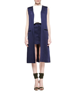 Long Side-Slit Vest