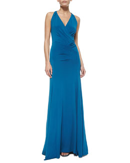 Slinky Jersey Draped Gown