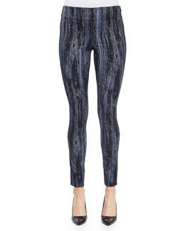 Textured Stretch Slim Pants