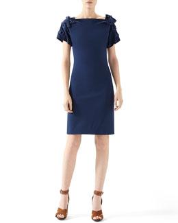 Viscose Jersey Lace Up Dress
