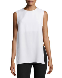 Side Cutout Crepe Top