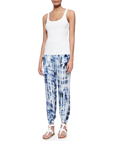 Adria Tie Dye Harem Pants, Blue Multi