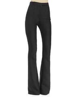 High-Waist Flare-Leg Pants