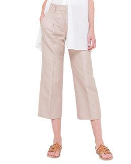 Mira Pleated Wide-Leg Pants, Rose des Sables