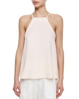 Square-Neck Flutter Camisole, Light Pink