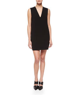 Sleeveless Cross-Back Shift Dress