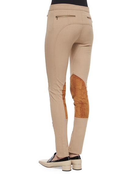 Stretch Twill Jodhpur Leggings, Camel